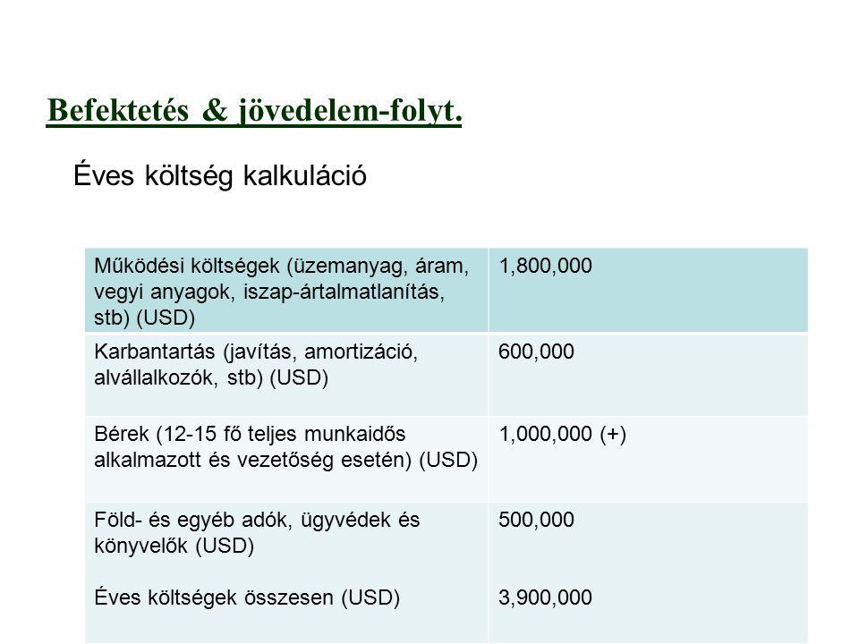 Befektetés & jövedelem-folyt.