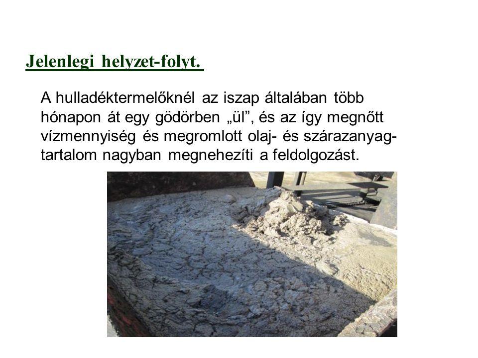 folyt.-Jelenlegi helyzet A nehezen kezelhető de kezelésre került hulladék éves mennyisége Izraelben kb.
