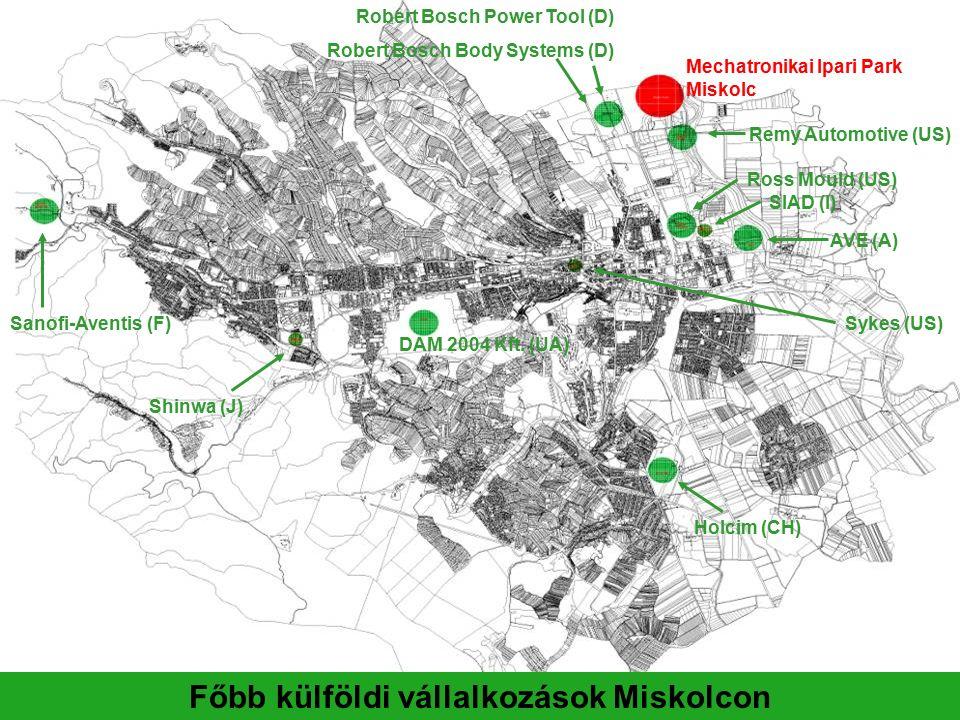 A Mechatronikai Ipari Park elhelyezkedése Mechatronikai Ipari Park
