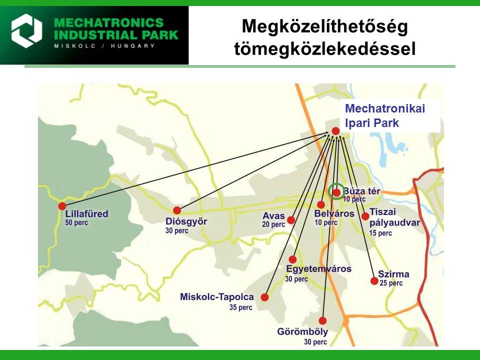 Építményadó kedvezmény Építményadó alapesetben900,- Ft./m2/év A MIP Miskolci Ipari Park területén elhelyezkedő ingatlan esetén 600,- Ft./m2/év