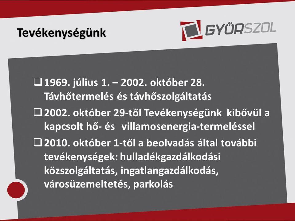 Tevékenységünk  1969. július 1. – 2002. október 28.