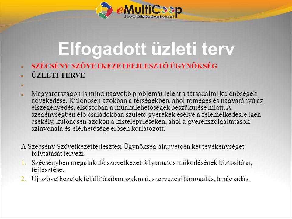 Elfogadott üzleti terv SZÉCSÉNY SZÖVETKEZETFEJLESZTŐ ÜGYNÖKSÉG ÜZLETI TERVE Magyarországon is mind nagyobb problémát jelent a társadalmi különbségek n