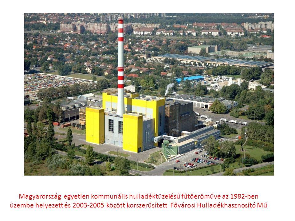 Magyarország egyetlen kommunális hulladéktüzelésű fűtőerőműve az 1982-ben üzembe helyezett és 2003-2005 között korszerűsített Fővárosi Hulladékhasznosító Mű