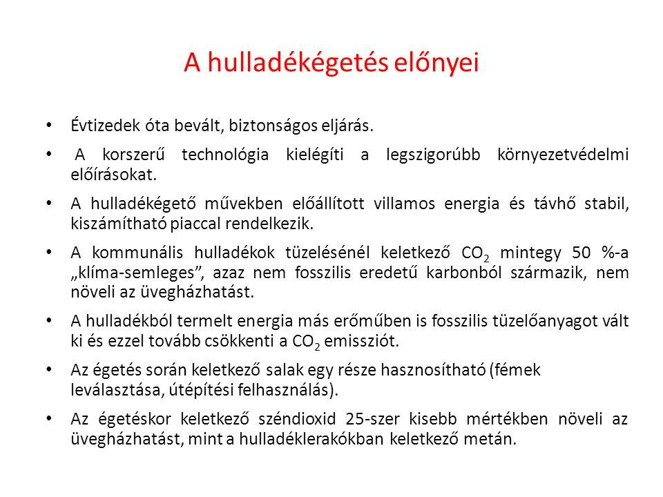 Tendenciák Európában Nyugat-Európa legtöbb országában már elegendő energetikai hasznosítási, azaz égetőművi kapacitás épült ki.