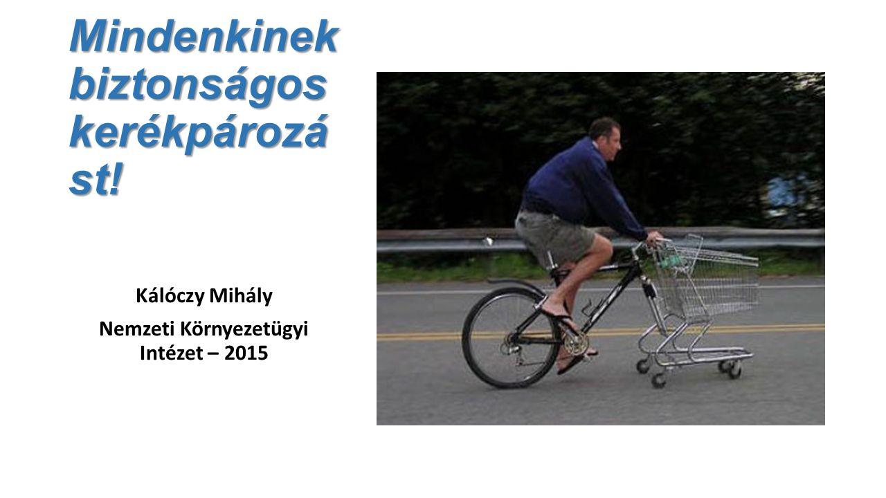 Mindenkinek biztonságos kerékpározá st! Kálóczy Mihály Nemzeti Környezetügyi Intézet – 2015