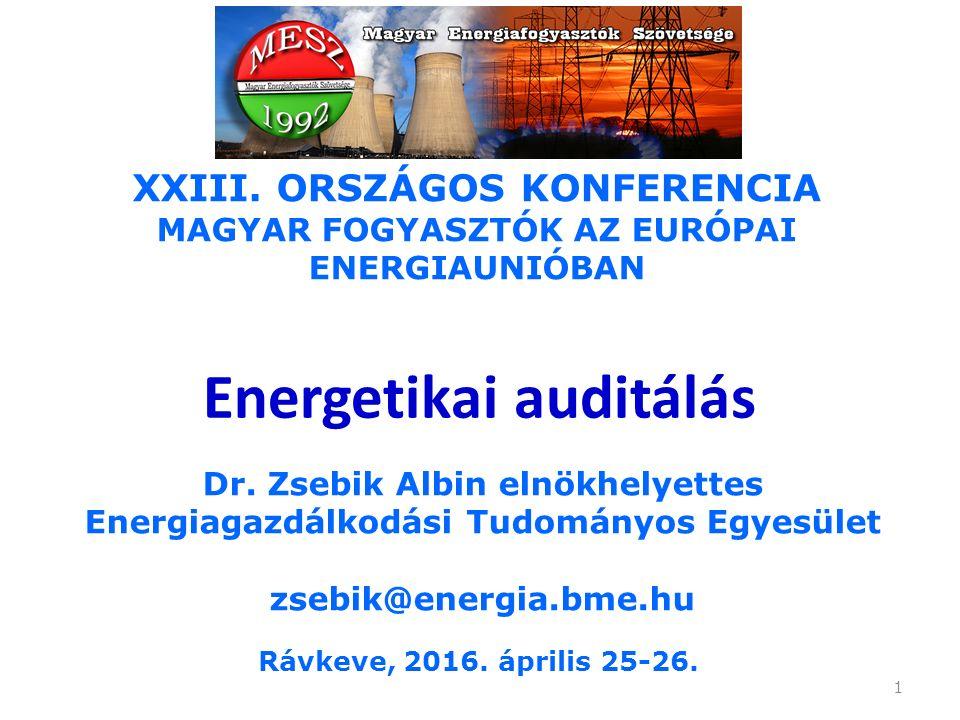 12 A MEKH (Hivatal) energiahatékonysági feladatai: c) névjegyzéket vezet az energetikai auditorokról és energetikai auditáló szervezetekről, nyilvántartást vezet az energetikai auditorokat regisztráló szervezetekről, ellátja e személyek és szervezetek felügyeletét; valamint elvégzi az energetikai auditálás ellenőrzését; d) a 20.