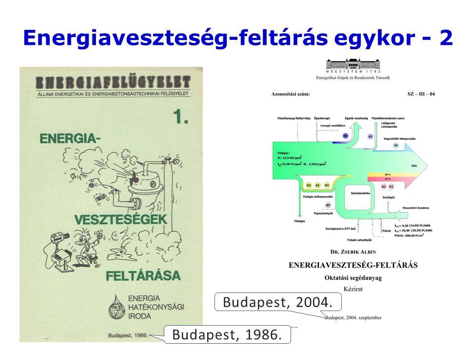 5 Energiaveszteség-feltárás egykor - 2 Budapest, 1986. Budapest, 2004.