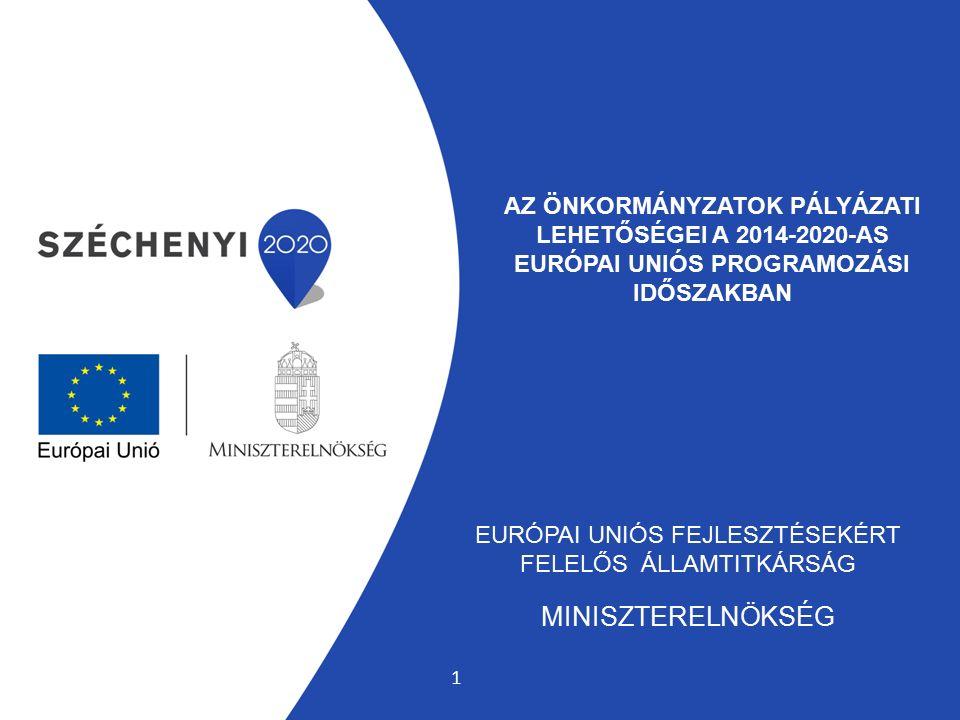 AZ ÖNKORMÁNYZATOK PÁLYÁZATI LEHETŐSÉGEI A 2014-2020-AS EURÓPAI UNIÓS PROGRAMOZÁSI IDŐSZAKBAN EURÓPAI UNIÓS FEJLESZTÉSEKÉRT FELELŐS ÁLLAMTITKÁRSÁG MINI