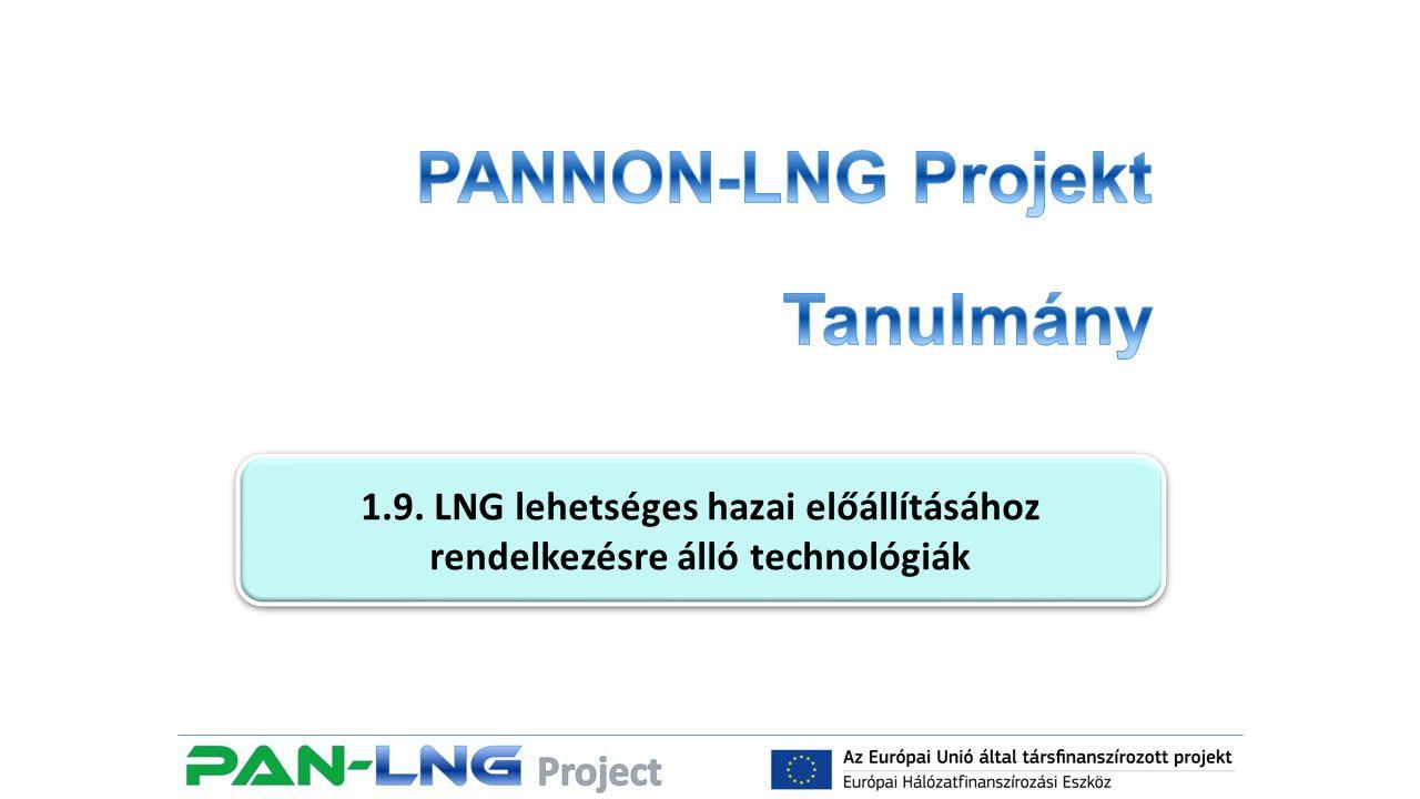 1.9 LNG lehetséges hazai előállításához rendelkezésre álló technológiák 1.9.