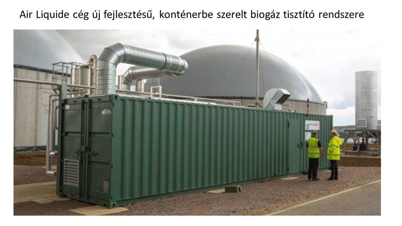 Air Liquide cég új fejlesztésű, konténerbe szerelt biogáz tisztító rendszere