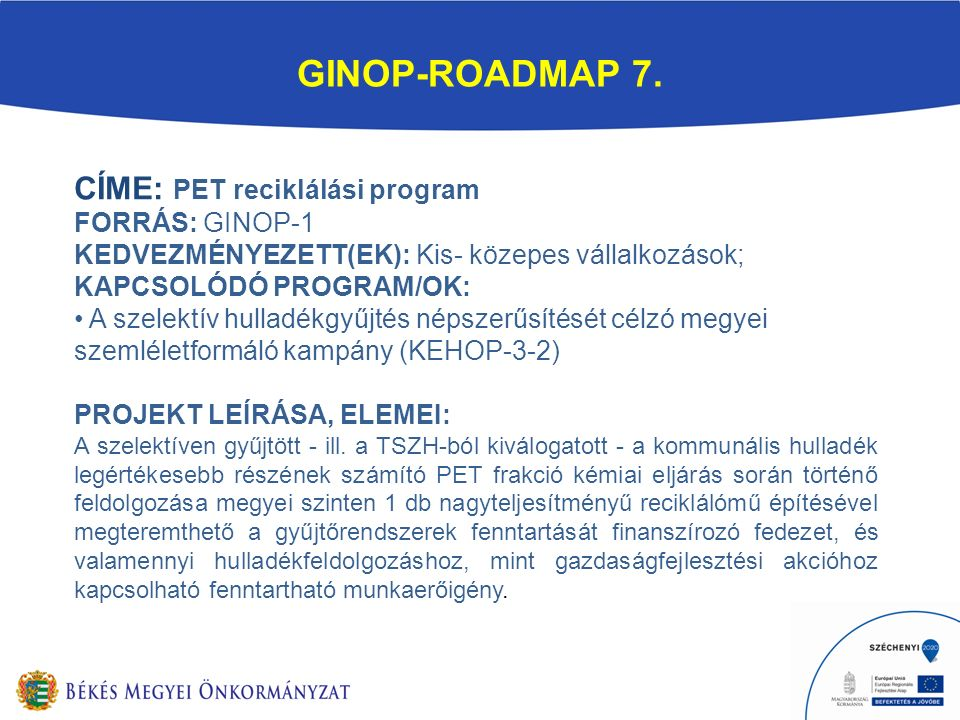 GINOP-ROADMAP 7.
