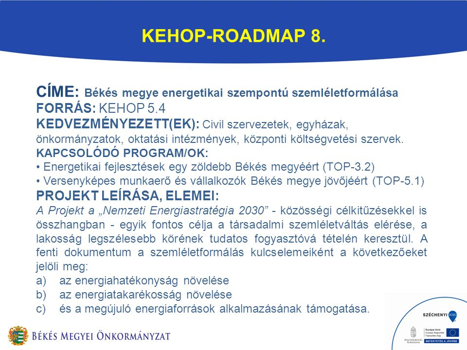 KEHOP-ROADMAP 8.