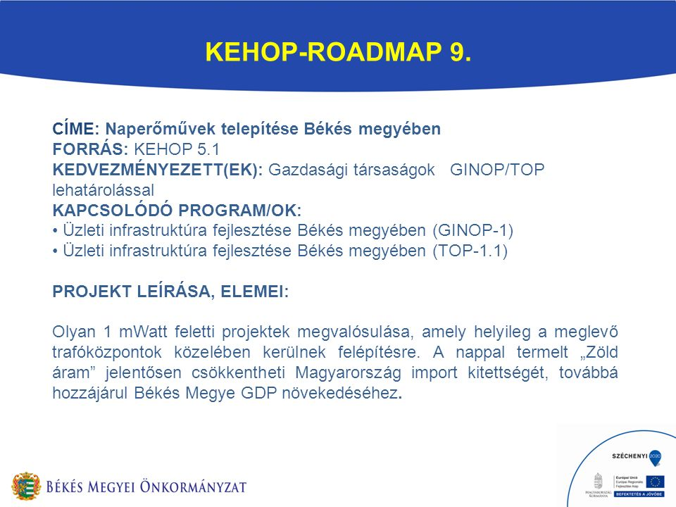 KEHOP-ROADMAP 9.