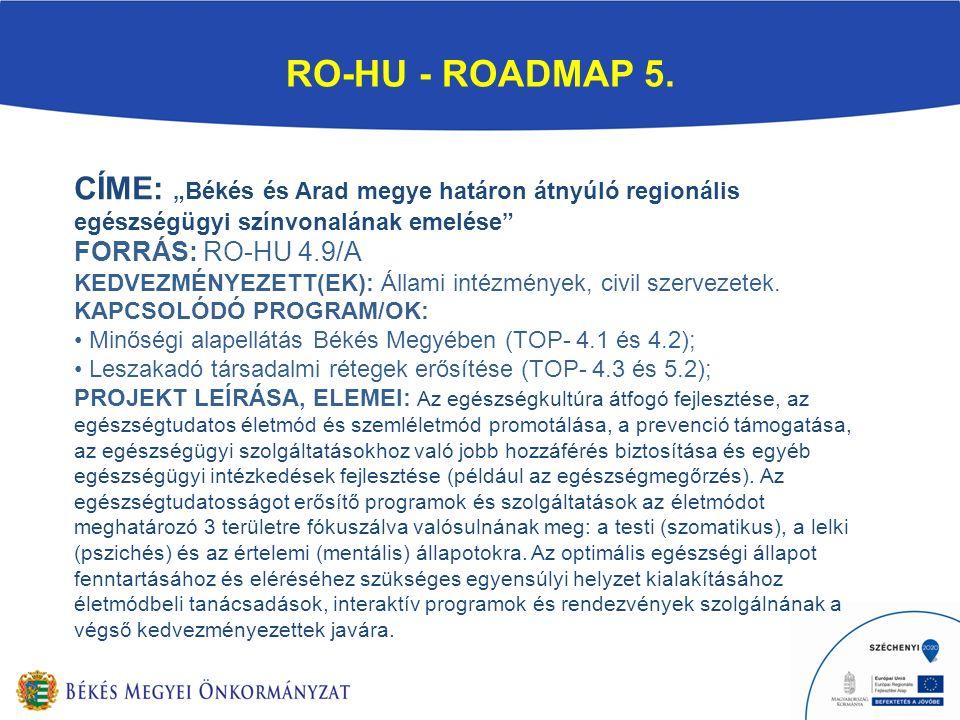RO-HU - ROADMAP 5.