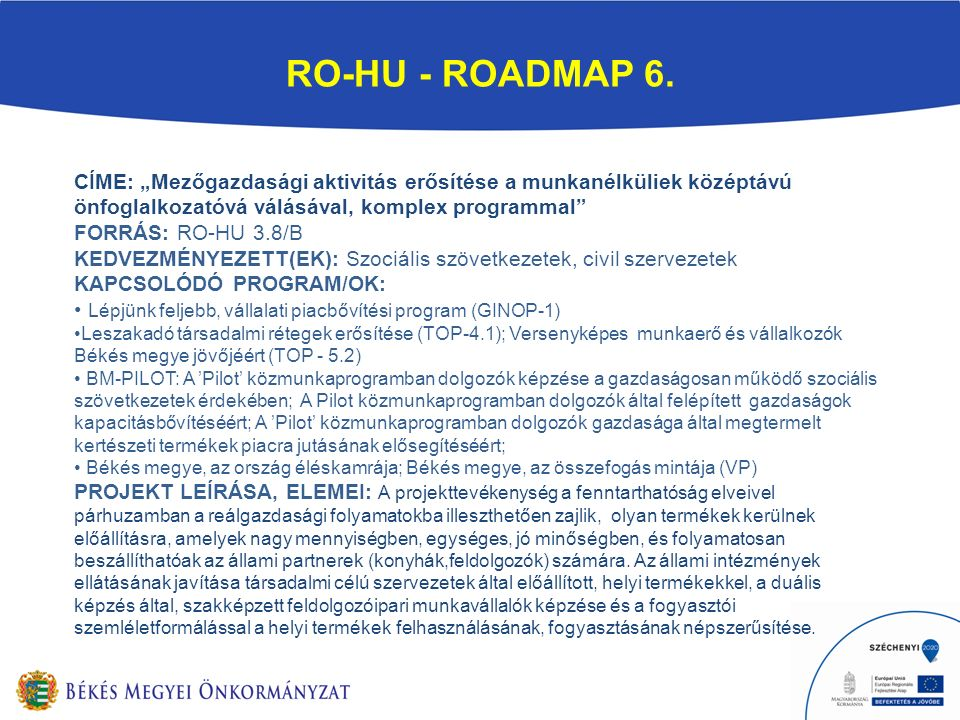 RO-HU - ROADMAP 6.