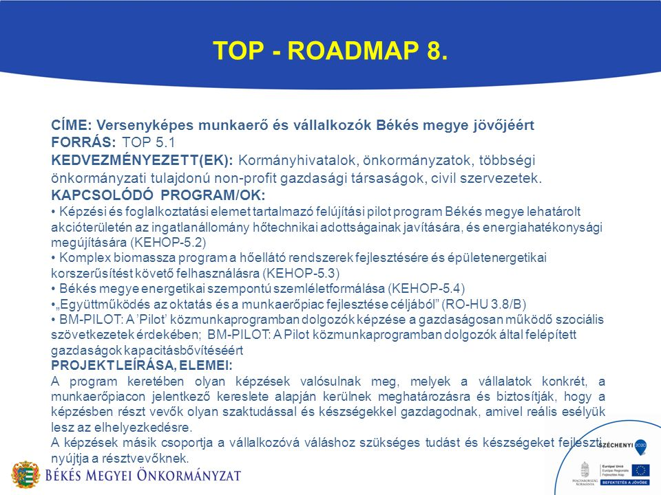 TOP - ROADMAP 8.