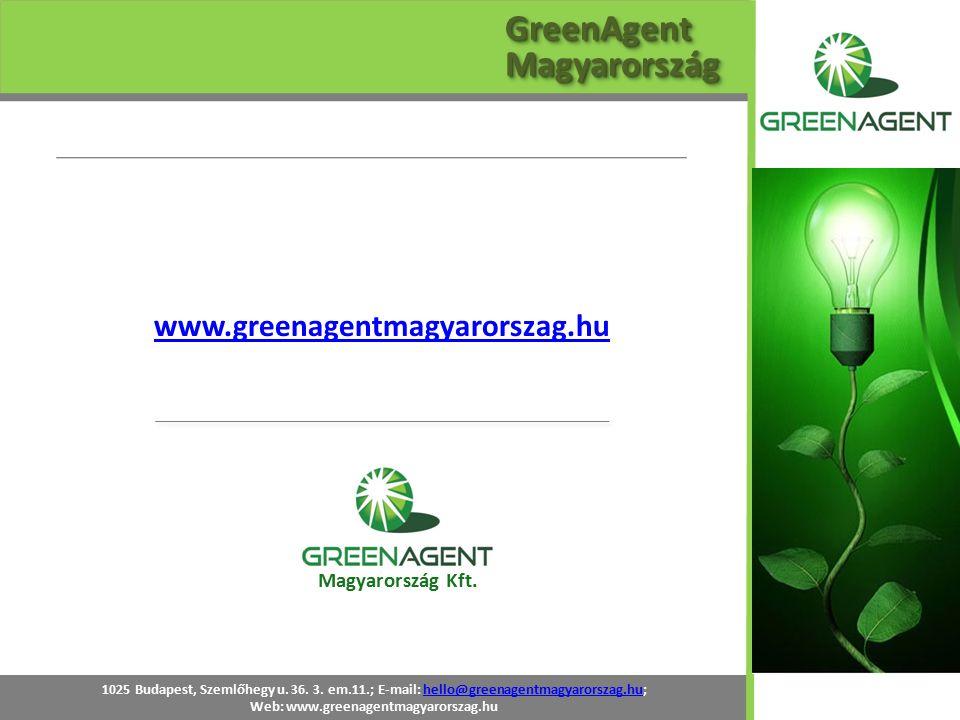 1025 Budapest, Szemlőhegy u. 36. 3. em.11.; E-mail: hello@greenagentmagyarorszag.hu;hello@greenagentmagyarorszag.hu Web: www.greenagentmagyarorszag.hu