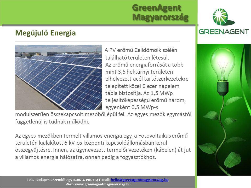 A PV erőmű Celldömölk szélén található területen létesül. Az erőmű energiaforrását a több mint 3,5 hektárnyi területen elhelyezett acél tartószerkezet
