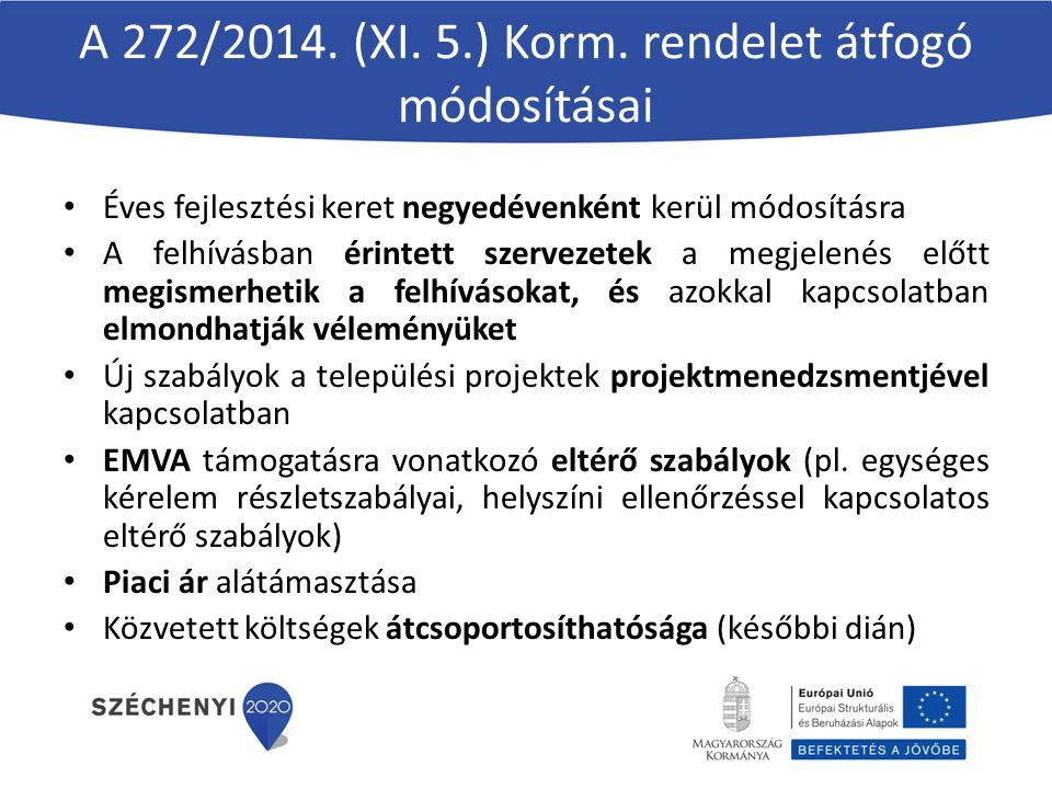 A 272/2014. (XI. 5.) Korm.