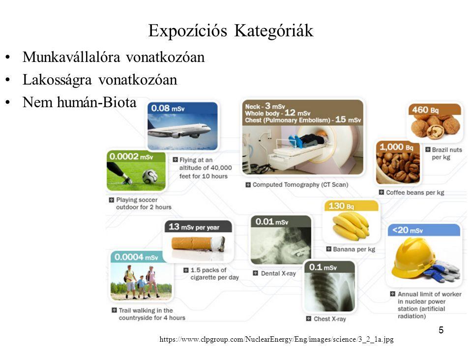 Expozíciós Kategóriák Munkavállalóra vonatkozóan Lakosságra vonatkozóan Nem humán-Biota 5 https://www.clpgroup.com/NuclearEnergy/Eng/images/science/3_2_1a.jpg