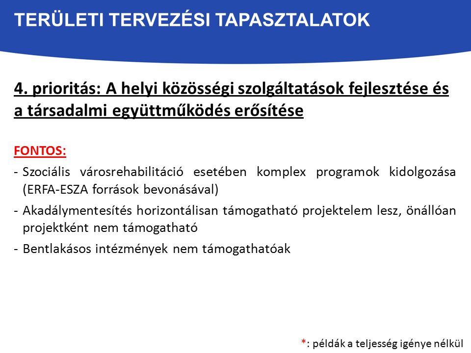 TERÜLETI TERVEZÉSI TAPASZTALATOK 4.