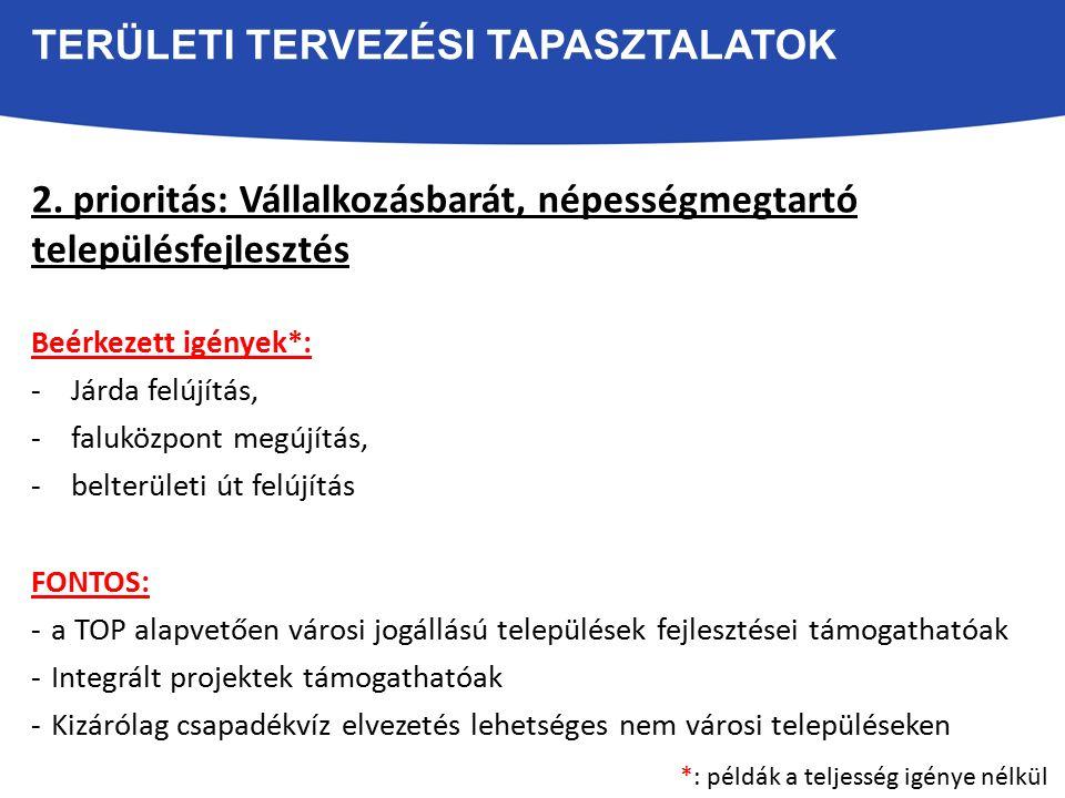 TERÜLETI TERVEZÉSI TAPASZTALATOK 3.