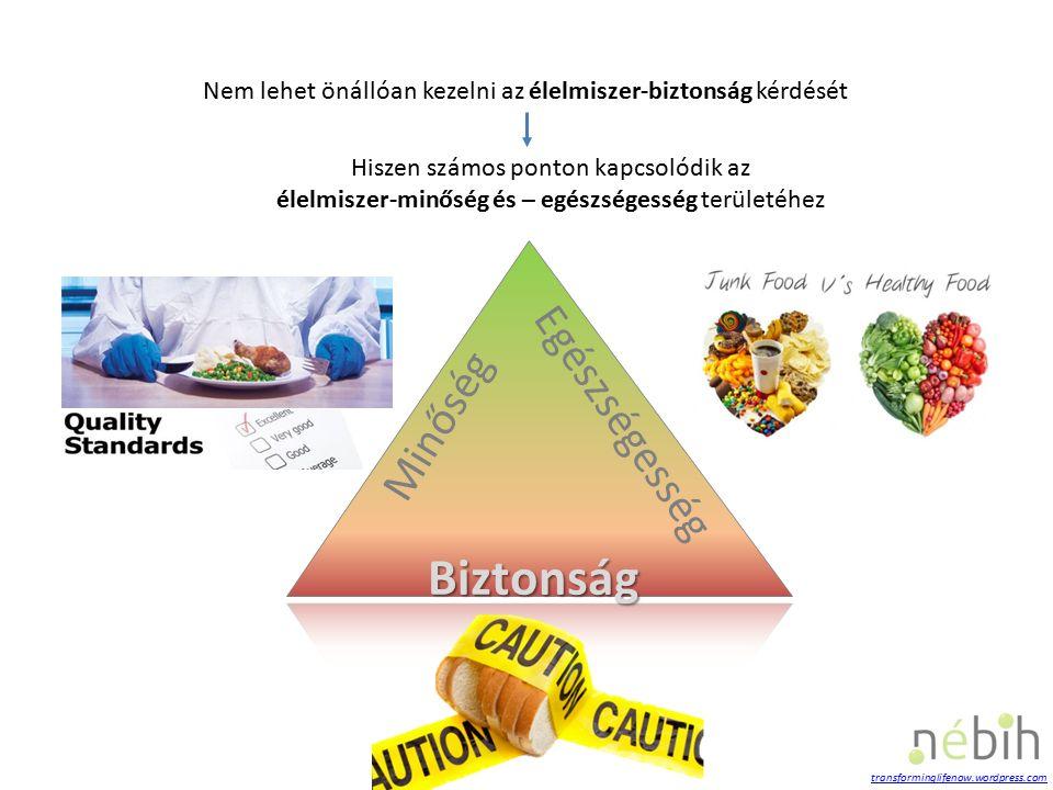 Biztonság Minőség Egészségesség Nem lehet önállóan kezelni az élelmiszer-biztonság kérdését Hiszen számos ponton kapcsolódik az élelmiszer-minőség és – egészségesség területéhez transforminglifenow.wordpress.com
