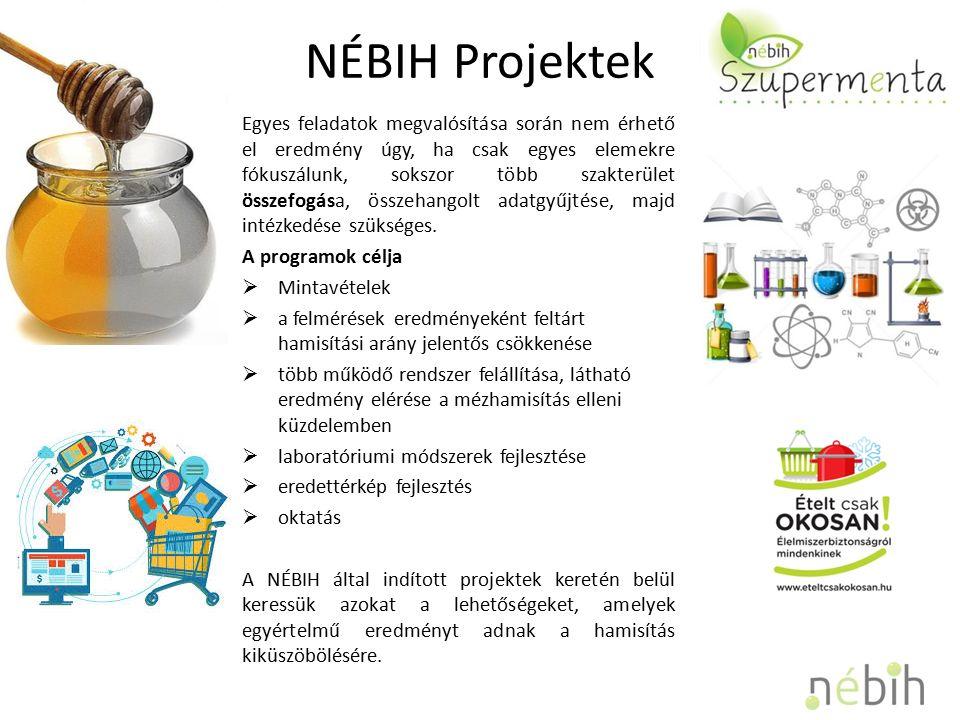NÉBIH Projektek Egyes feladatok megvalósítása során nem érhető el eredmény úgy, ha csak egyes elemekre fókuszálunk, sokszor több szakterület összefogása, összehangolt adatgyűjtése, majd intézkedése szükséges.