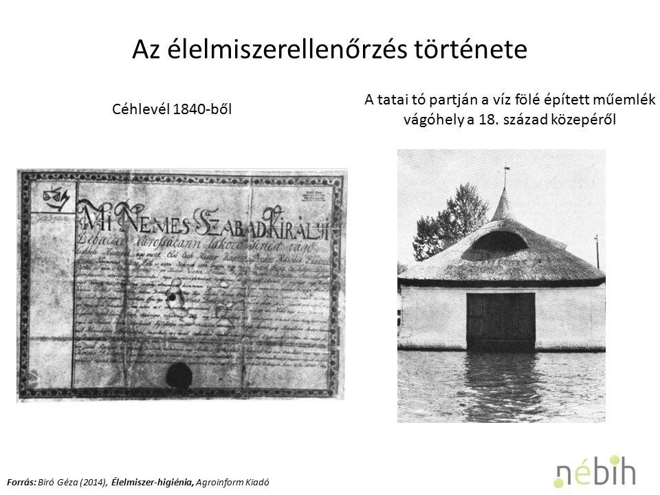 Céhlevél 1840-ből A tatai tó partján a víz fölé épített műemlék vágóhely a 18.