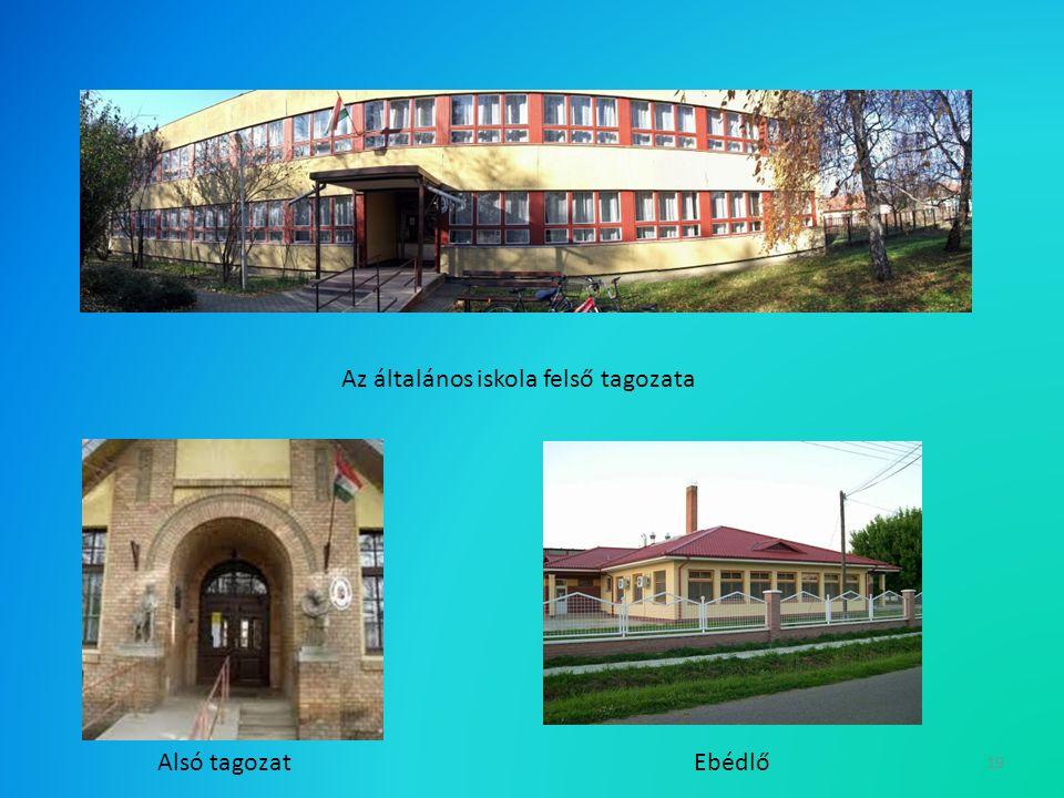 19 Az általános iskola felső tagozata Alsó tagozatEbédlő
