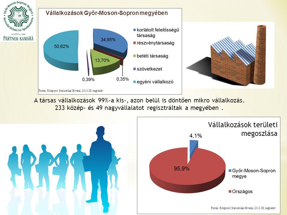 Forrás: Központi Statisztikai Hivatal, 2013. III.