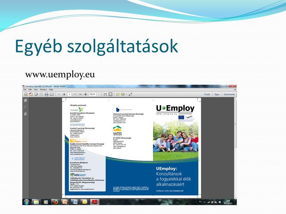 Egyéb szolgáltatások www.uemploy.eu