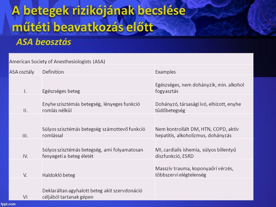 Véralvadásgátló gyógyszerek Antikoagulánsok (vénás trombózis) (VKA) Heparinok, kis molekulájú heparinok, kumarinok antidotum: protaminszulfát, K-vitamin Trombocyta aggregációt gátlók (artériás trombózis megelőzés) Pl.: aszpirin, clopidogrel Új oralis antikoagulánsok: rivaroxaban, dabigatran Trombolítikumok INR (international normalized ratio) érték: 3,5-ig elfogadható Antikoagulánsok (vénás trombózis) (VKA) Heparinok, kis molekulájú heparinok, kumarinok antidotum: protaminszulfát, K-vitamin Trombocyta aggregációt gátlók (artériás trombózis megelőzés) Pl.: aszpirin, clopidogrel Új oralis antikoagulánsok: rivaroxaban, dabigatran Trombolítikumok INR (international normalized ratio) érték: 3,5-ig elfogadható