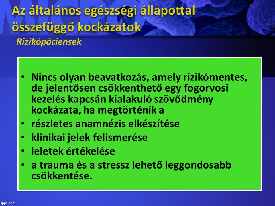 Az általános egészségi állapottal összefüggő kontraindikációk Az ellátás kontraindikált például: Akut fertőző betegség Fekvőbeteg-intézeti elhelyezést igénylő beteg Egyes pszichiátriai kórképek – altatás lehet szükséges Korábbi fogorvosi kezelés során kialakult tisztázatlan anaphylaxia Az ellátás kontraindikált például: Akut fertőző betegség Fekvőbeteg-intézeti elhelyezést igénylő beteg Egyes pszichiátriai kórképek – altatás lehet szükséges Korábbi fogorvosi kezelés során kialakult tisztázatlan anaphylaxia Keressük meg a megoldást!