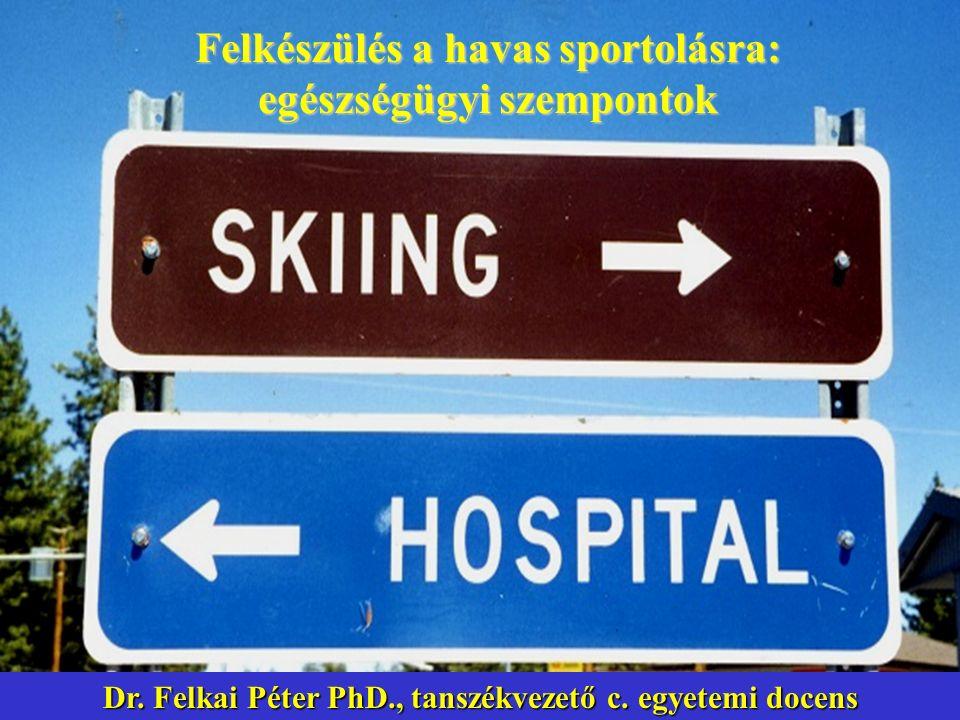 Felkészülés a havas sportolásra: egészségügyi szempontok Dr. Felkai Péter PhD., tanszékvezető c. egyetemi docens
