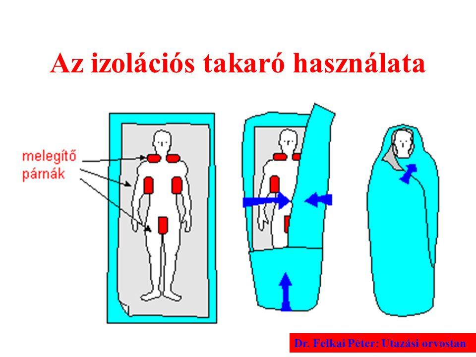 Az izolációs takaró használata Dr. Felkai Péter: Utazási orvostan