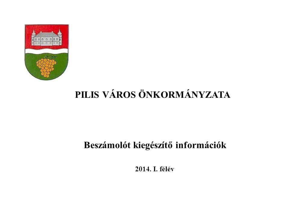 PILIS VÁROS ÖNKORMÁNYZATA Beszámolót kiegészítő információk 2014. I. félév
