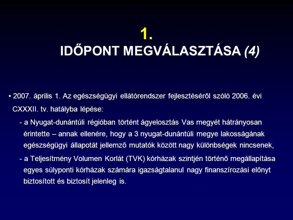 2007.április 1. Az egészségügyi ellátórendszer fejlesztéséről szóló 2006.