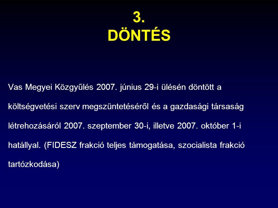 3.DÖNTÉS Vas Megyei Közgyűlés 2007.