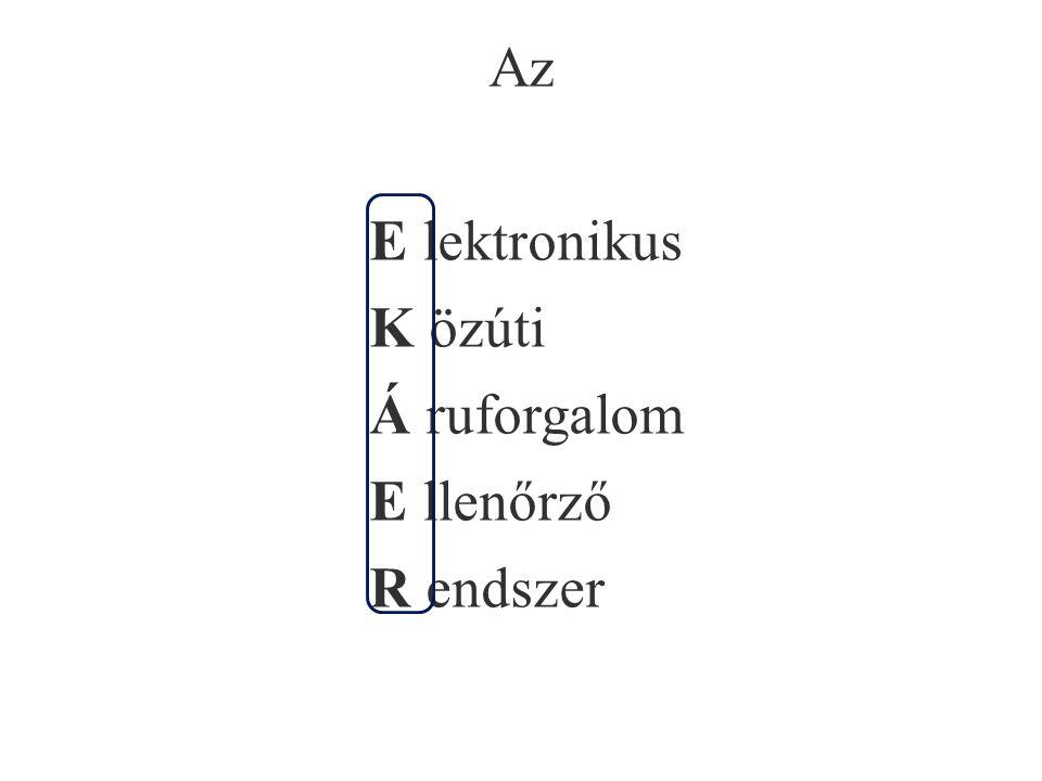 Az E lektronikus K özúti Á ruforgalom E llenőrző R endszer