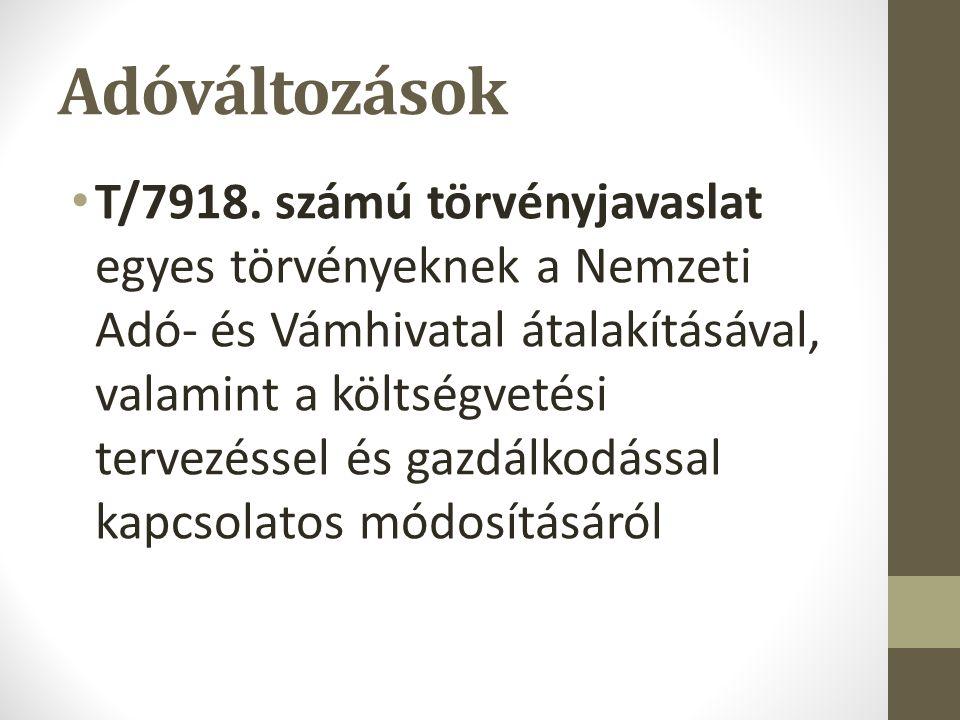 Adóváltozások T/7918.