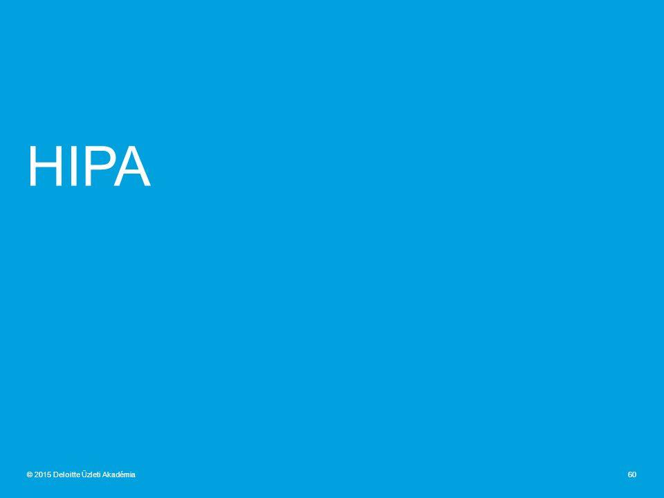 HIPA 60© 2015 Deloitte Üzleti Akadémia