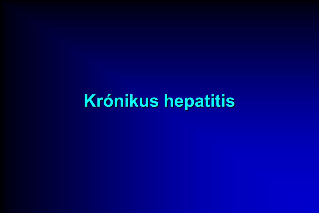 Krónikus hepatitis