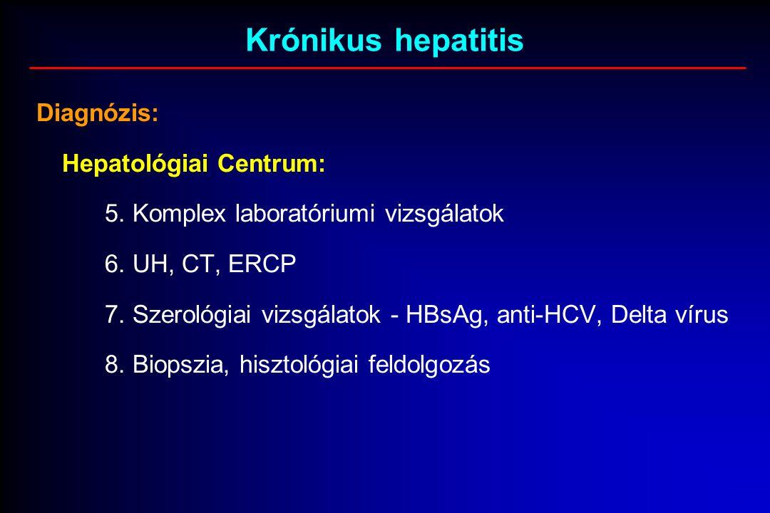 Krónikus hepatitis Diagnózis: Hepatológiai Centrum: 5.