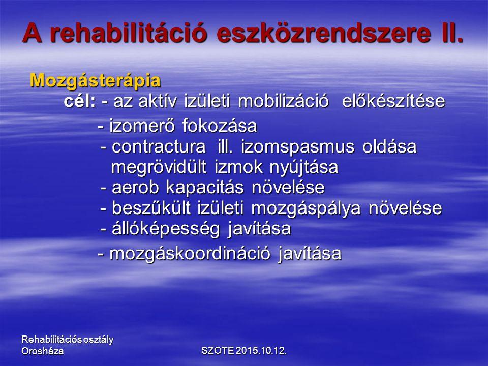 A rehabilitáció eszközrendszere II.