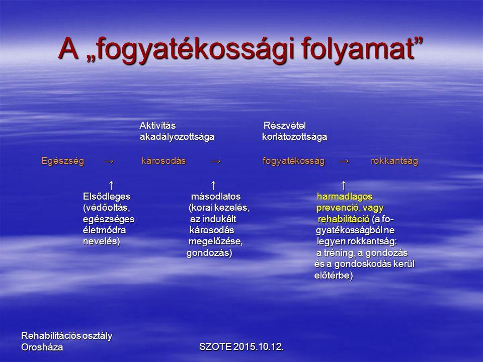 Dysplasia coxae cong. SZOTE 2015.10.12. Rehabilitációs osztály Orosháza
