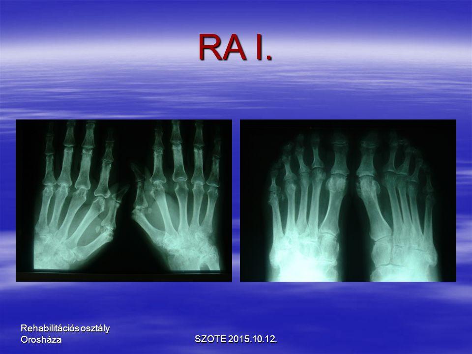 RA I. SZOTE 2015.10.12. Rehabilitációs osztály Orosháza