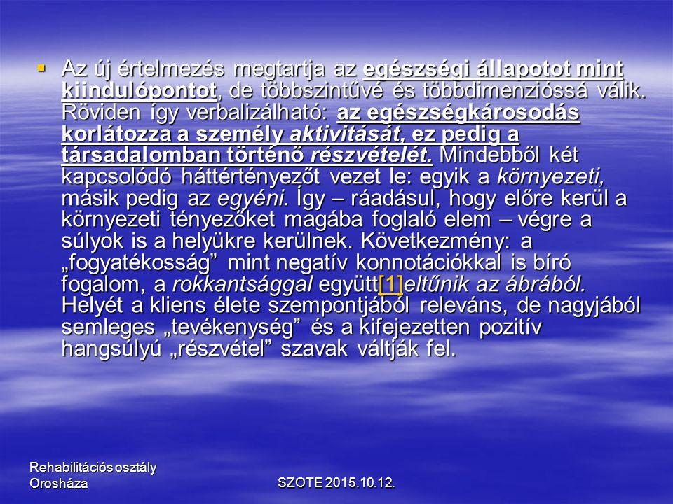 Szekunder arthrosis  ízületi dysplasiák,  anyagcsere betegségek,  ízületi sérülések,  túlterhelés,  hypermobilitás,  alulterhelés Tünetek:  mechanikus fájdalom,  indítási fájdalom,  csontos deformitás,  instabilitás, mozgáskorlátozottság SZOTE 2015.10.12.