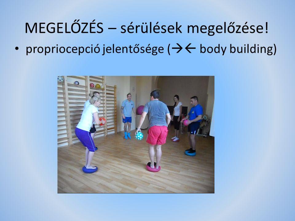MEGELŐZÉS – sérülések megelőzése! propriocepció jelentősége (  body building)