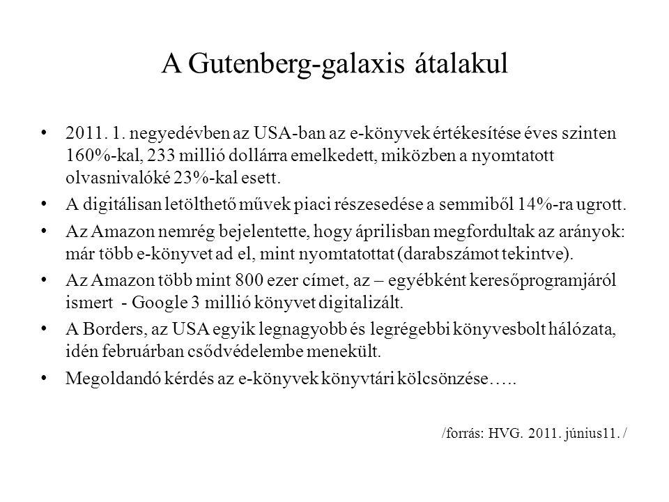 A Gutenberg-galaxis átalakul 2011. 1.